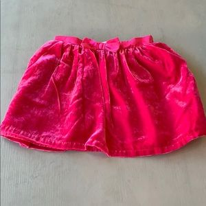 Cat & Jack Hot Pink Velvety Velour Skirt